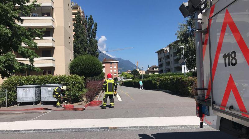Martigny: incendie dans un immeuble, 4 personnes hospitalisées