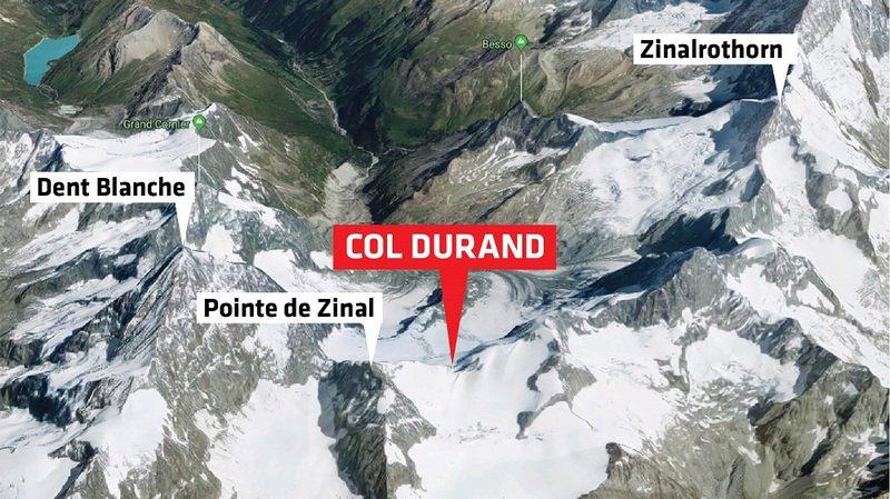 L'avion s'est écrasé sur le Col Durand, en Anniviers.
