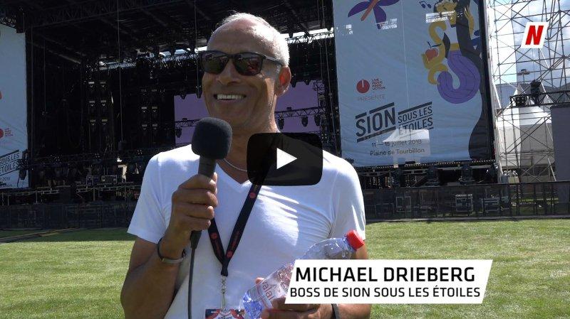 Sion sous les étoiles: l'interview timbrée du boss du festival Michael Drieberg