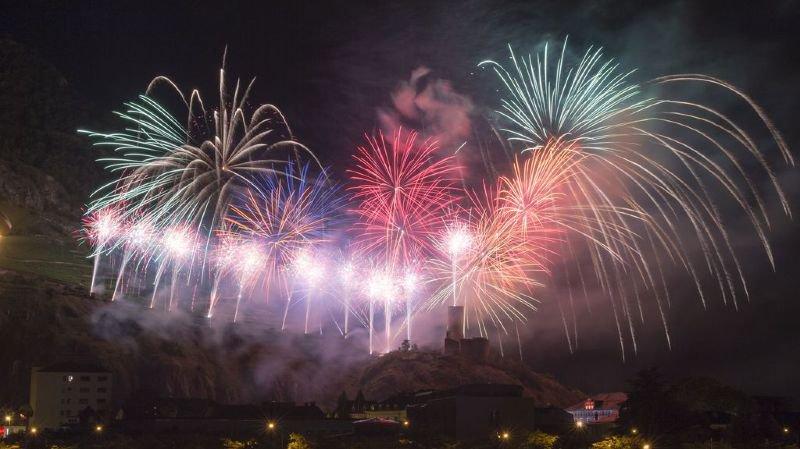 Les feux seront bel et bien tirés le 1er août depuis la Bâtiaz à Martigny.