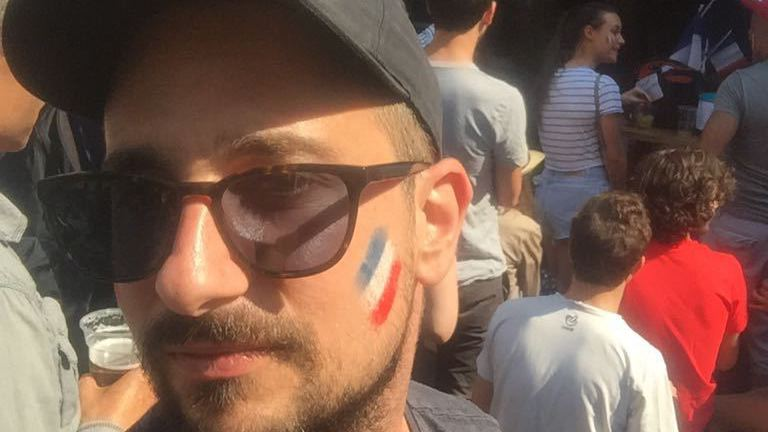 Le Valaisan Etienne Karlen aux couleurs de la France à Paris.