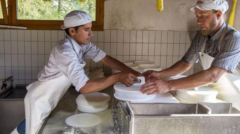 Ayent: Ortiz, le fromager paraguayen en stage à l'alpage de Serin