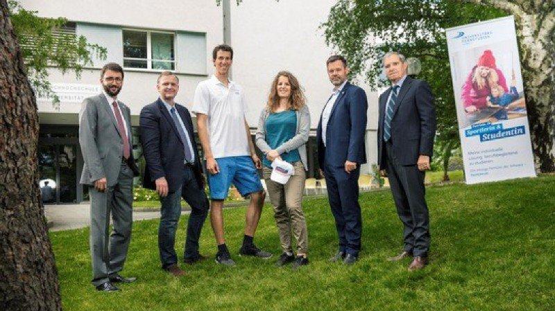 Les champions olympiques Ramon Zenhäusern et Patrizia Kummer auront pour mission de promouvoir l'institut UniDistance.