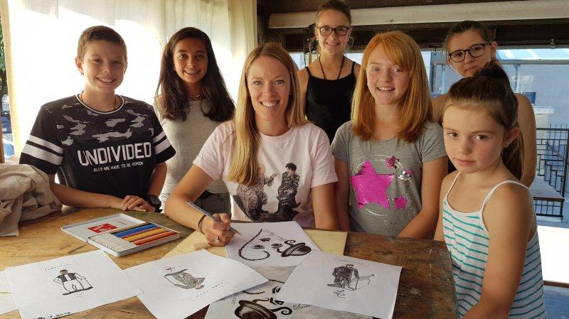 Troistorrents-Morgins: Laura Chaplin a animé un atelier artistique du passeport vacances