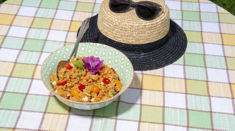 Une salade de lentilles corail qui en régalera plus d'un.