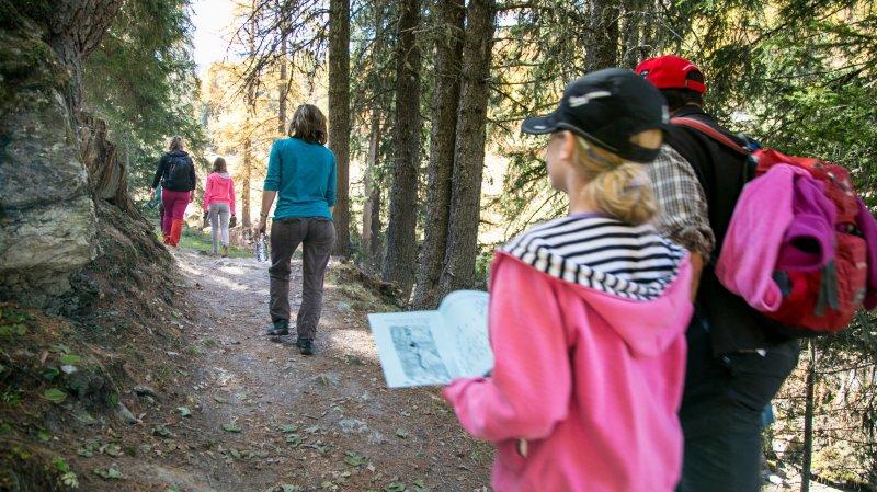 Une randonnée en pleine nature à Nendaz semée d'énigmes...
