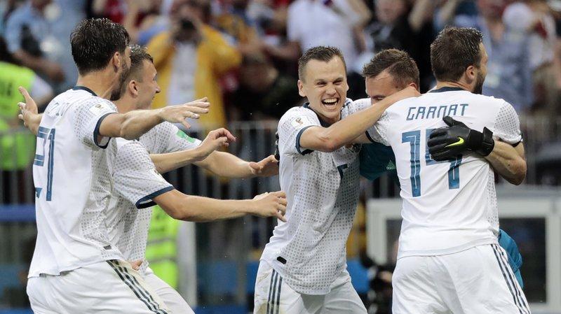 Coupe du monde 2018: La Russie en plein rêve et en quarts de finale