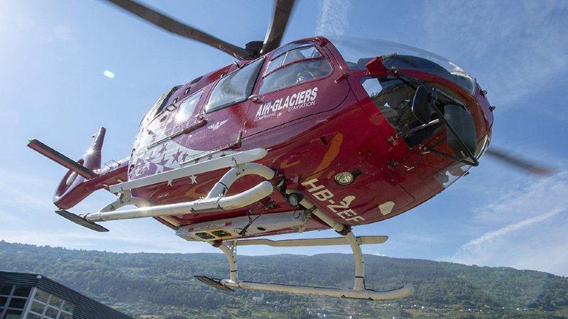 Les hélicoptères d'Air-Glaciers ont effectué 95 sauvetages ce week-end.