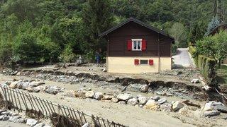 Orages: l'inondation de la Navizence fait des dégâts importants à Chippis