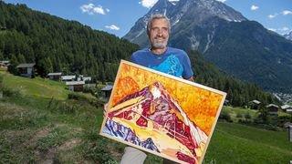 André Georges, l'ancien guide qui peint les montagnes