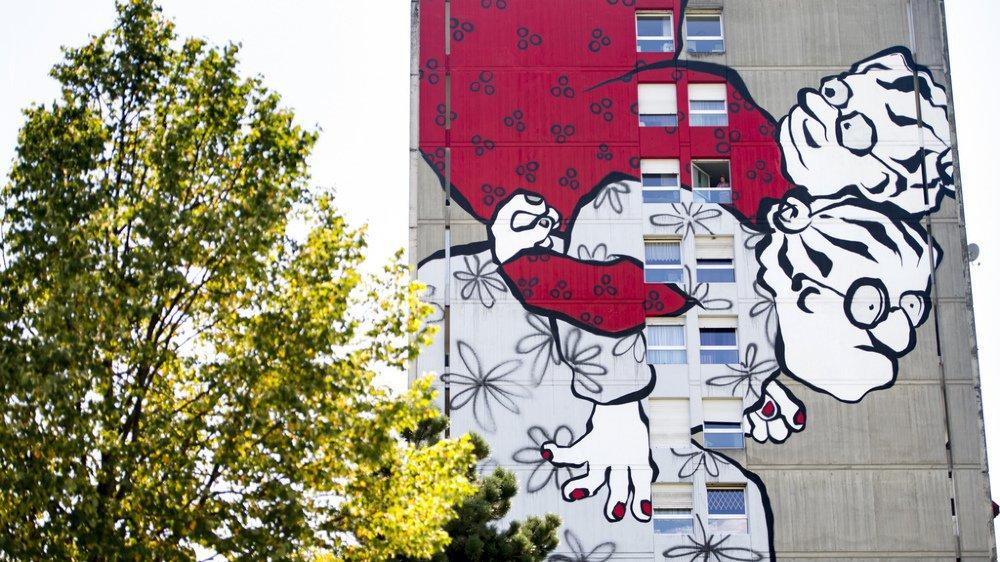 Jeux du Castrum: une fresque géante illumine la façade d'un immeuble d'Yverdon (VD)