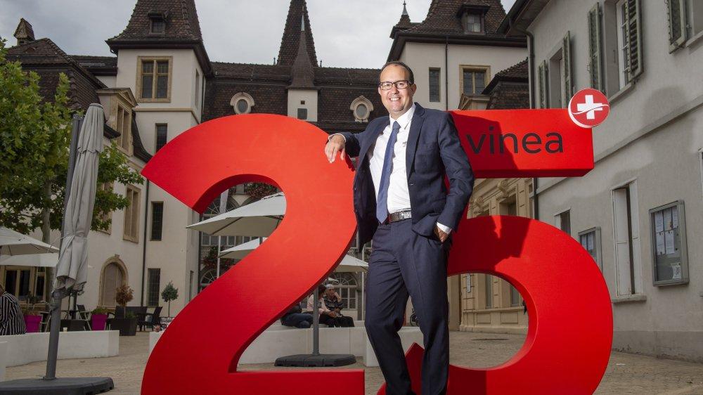 David Genolet, président de Vinea, entend bien pérenniser le Salon des vins suisses de Sierre, qui fête ses 25 ans.