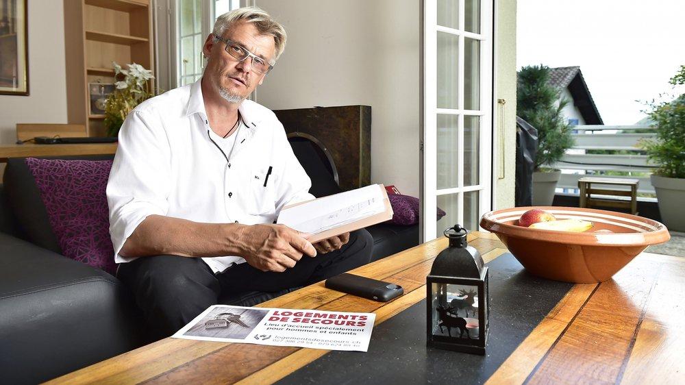 """Vice-président de l'association """"Logements de secours"""", Rolf Ritter note que quatre hommes victimes de violences domestiques ont déjà été hébergés dans la structure bas-valaisanne depuis avril dernier."""