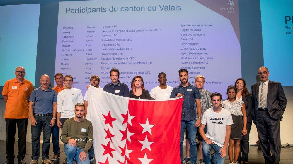 Le team Romandie des SwissSkills 2018, qui comprend 14 Valaisans, s'est présenté samedi à Montreux