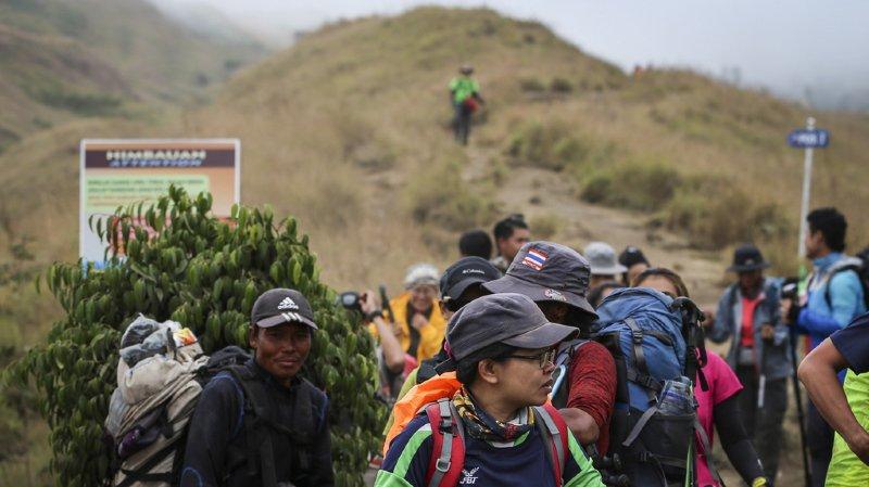 Indonésie: les 500 randonneurs ont pu être évacués du mont Rinjani à Lombok