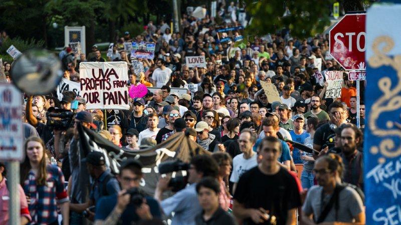 Etats-Unis: pas d'incident au rassemblement antiraciste de Charlottesville un an après