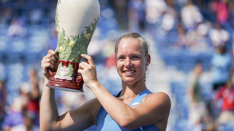 Kiki Bertens, a fait tomber la no 1 mondiale Simona Halep.