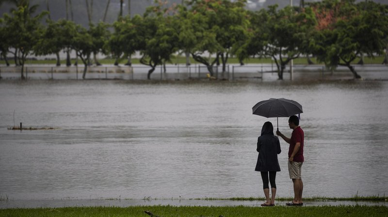 Intempéries: la tempête tropicale Lane déverse des trombes d'eau exceptionnelles sur Hawaï