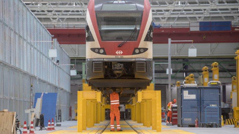 Transport ferroviaire: une nouvelle halle pour l'entretien des trains CFF voit le jour à Olten
