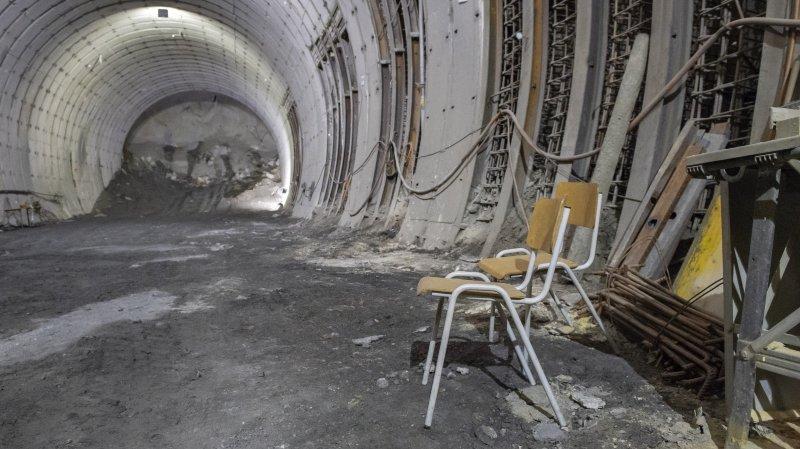A9: le PS du Haut-Valais demande d'arrêter les travaux au tunnel de Riedberg