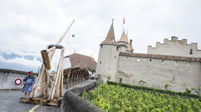 Une belle ambiance médiévale à proximité du château d'Aigle.