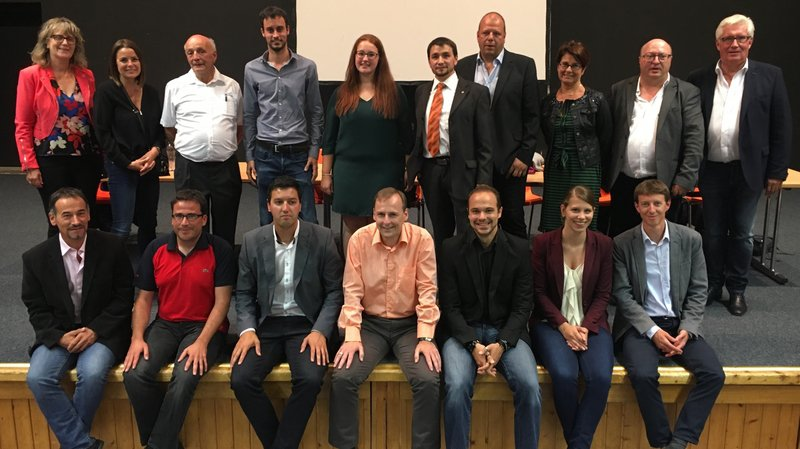 Les candidats PDC du district de Martigny.