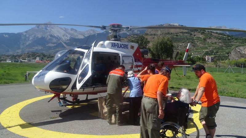 Le tour en hélicoptère: l'une des traditionnelles activités proposées par l'action Rayon de Soleil.