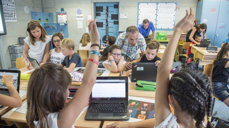 Leytron: comment le numérique débarque dans la vie des écoliers