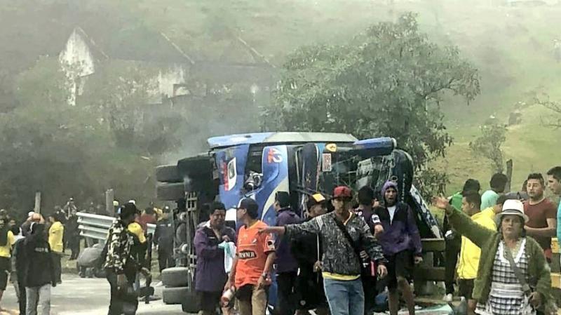Équateur: 10 supporters meurent dans un accident de car