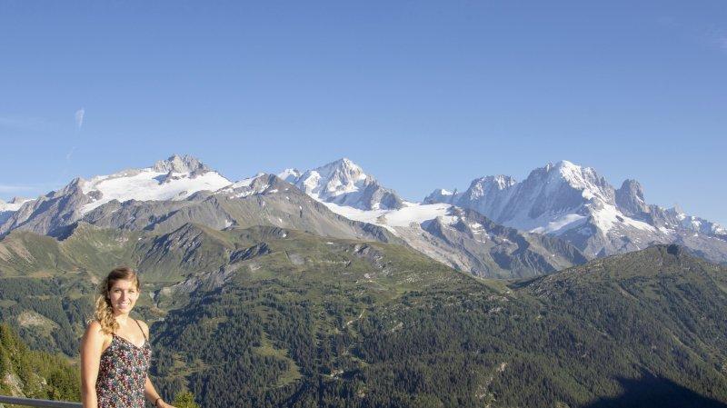 Océane Arlettaz apprécie les paysages magnifiques de la région de Finhaut.