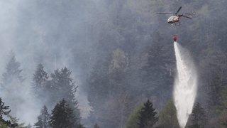 Valais: le danger d'incendie est toujours élevé
