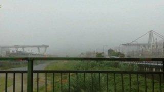 Gênes: premières images de l'effondrement du pont autoroutier