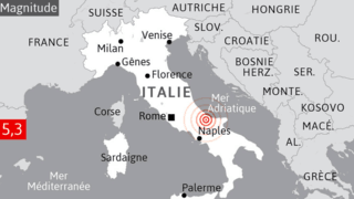 Italie: deux secousses de 5,2 puis 4,5 font trembler le centre du pays