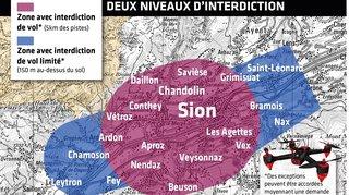 Sion: un drone frôle dangereusement un avion