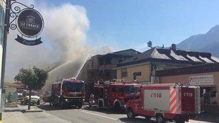 Valais: un incendie a causé d'importants dégâts au centre du village de Fully