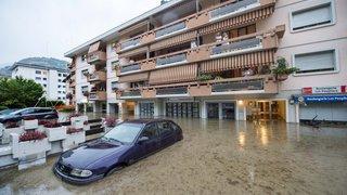 Pluie record à Sion, routes coupées à Vex et à Orsières