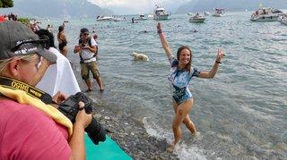 Saint-Gingolph: elle traverse le Léman à la nage pour une noble cause