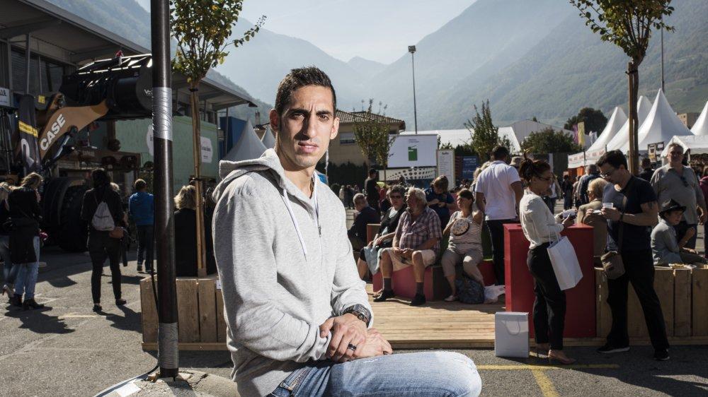 Sébastien Buemi était présent à la Foire du Valais, samedi, afin de rencontrer ses fans sur le stand de Mood, l'un de ses partenaires.