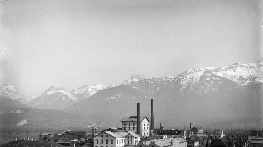 L'usine CIBA en 1928.