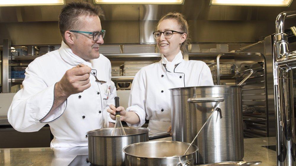 Laetitia Challandes a volontairement postulé pour un emploi dans la cuisine d'un home.