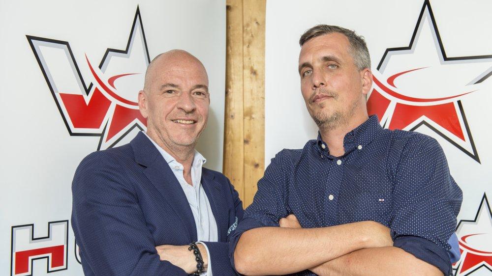 Patrick Polli et Steve Vergères, désormais réunis à la tête du HC Valais-Chablais.