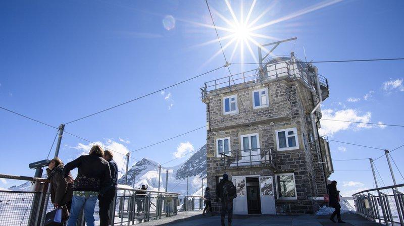 Record de température pour un mois de septembre au Jungfraujoch