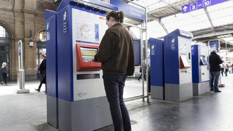 Certains automates à billets des CFF pourraient disparaître, faute de rentabilité