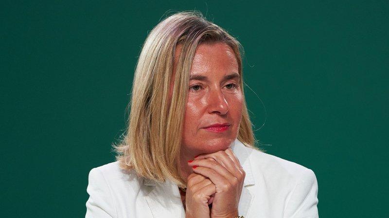 La cheffe de la diplomatie de l'UE Federica Mogherini entend rassurer les acteurs économiques qui ont un commerce légitime avec l'Iran.
