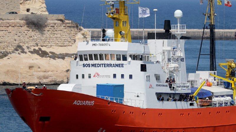 Méditerranée: les 58 migrants de l'Aquarius débarqueront à Malte