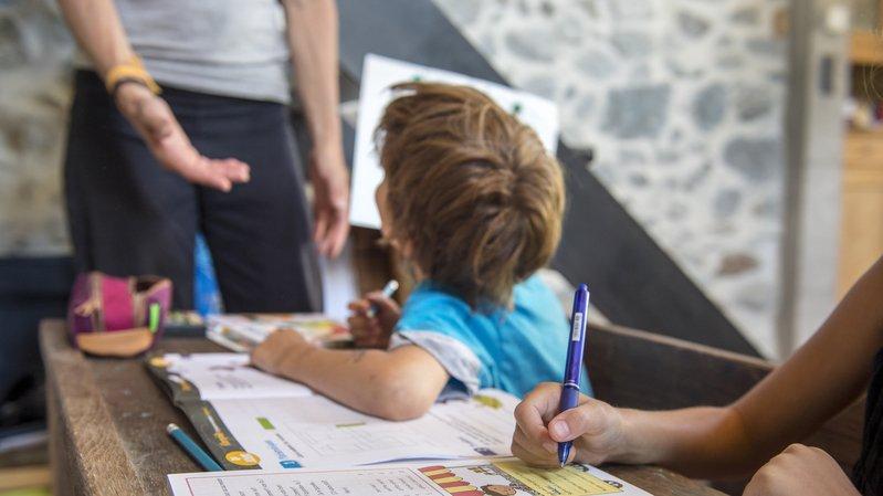 Ecole valaisanne: de nombreuses aides des communes