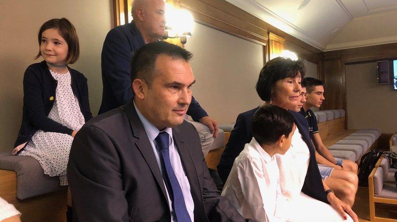 Me Sébastien Fanti était présent à la tribune du Grand Conseil mardi matin.