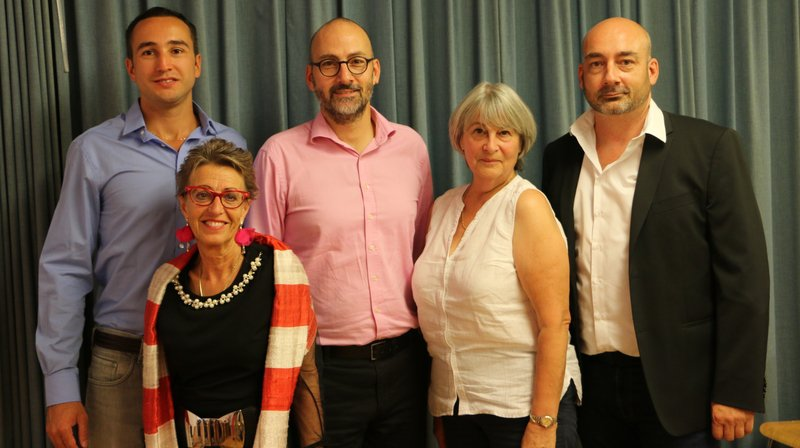 Les candidats de la liste Valeurs libérales radicales du district de Saint-Maurice.