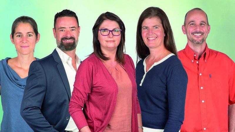 Les candidats Verts et Citoyens du district d'Hérens.