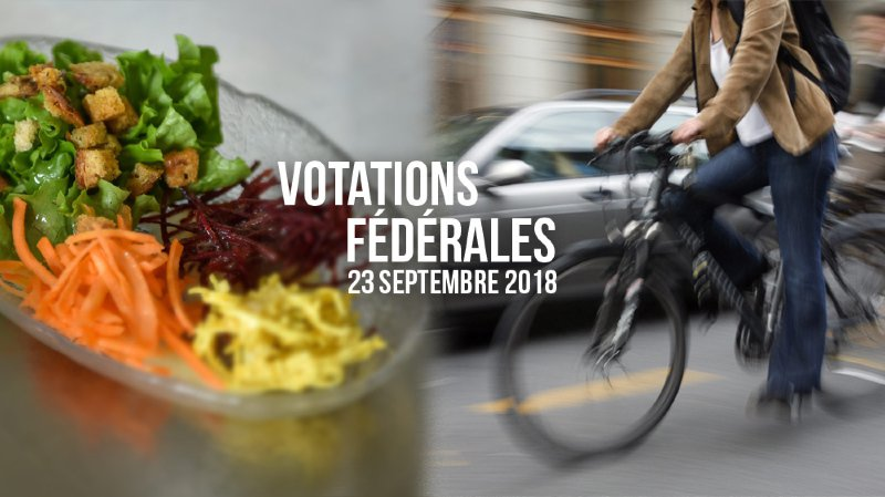Votations fédérales: un plébiscite pour le vélo et un double non aux textes agricoles